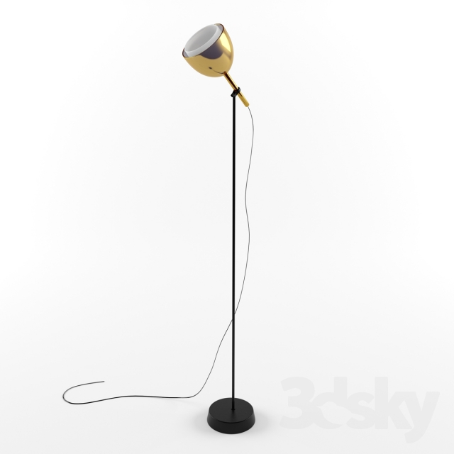 3d models floor lamp ligne roset brass bell. Black Bedroom Furniture Sets. Home Design Ideas