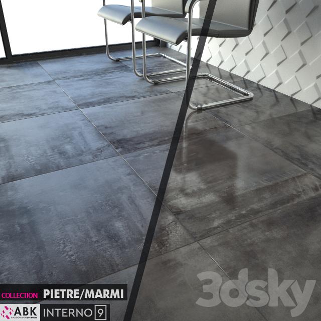 3d models tile abk collection rustico interno 9 dark