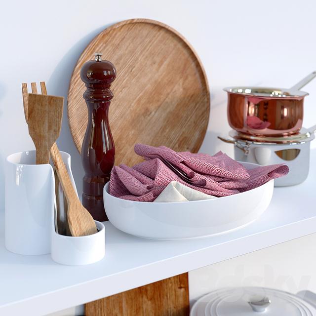 3d models tableware kitchen set for Kitchen set 008 26