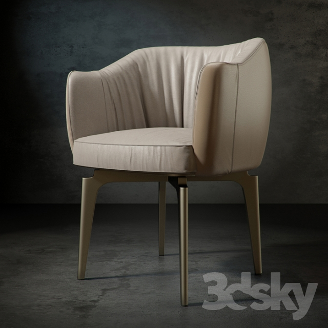 3d Models Arm Chair Elisa By Giorgetti