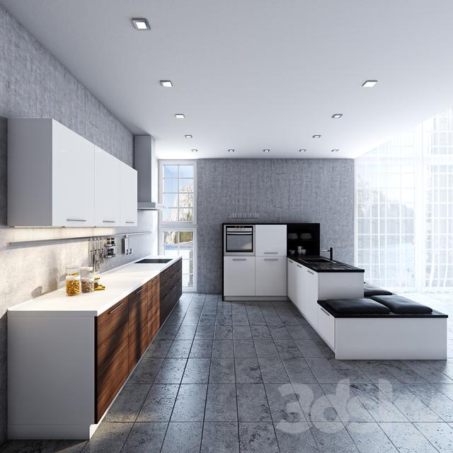 3d models kitchen alno plan contrast. Black Bedroom Furniture Sets. Home Design Ideas