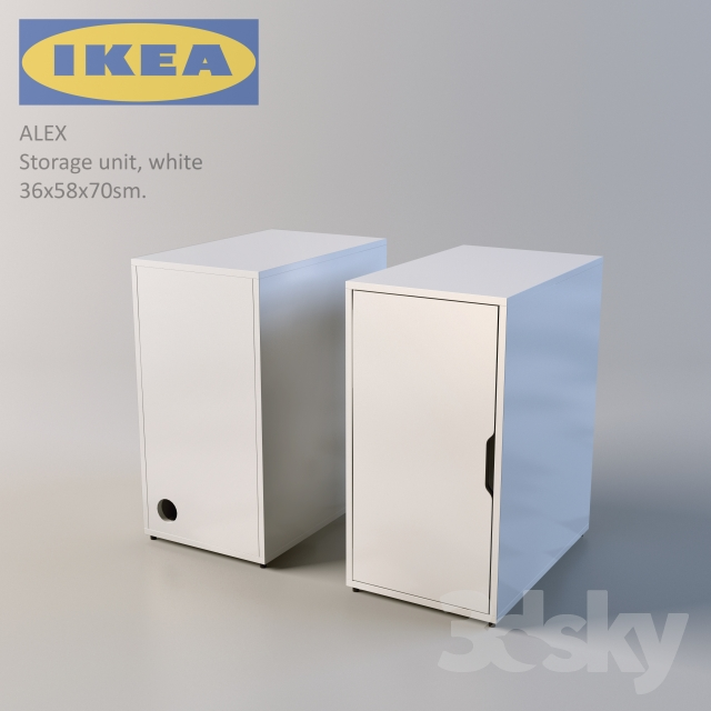 3d models office furniture ikea alex. Black Bedroom Furniture Sets. Home Design Ideas