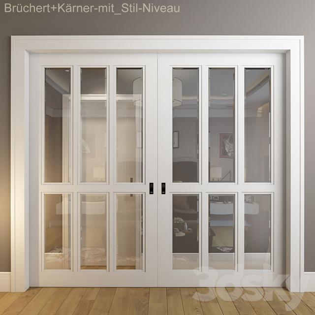 3d models doors doors br chert k rner mit stil. Black Bedroom Furniture Sets. Home Design Ideas