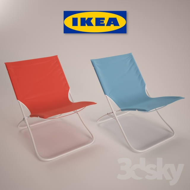 3d models chair beach chair ikea home. Black Bedroom Furniture Sets. Home Design Ideas