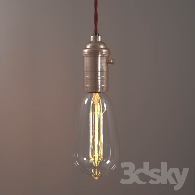 3d models: Ceiling light - Edison Light bulb
