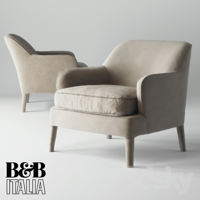3d models arm chair armchair maxalto b b italia febo. Black Bedroom Furniture Sets. Home Design Ideas