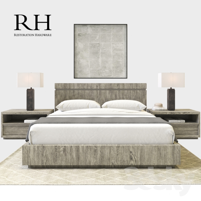 3d Models Bed Rh Modern Bezier Bedroom Set