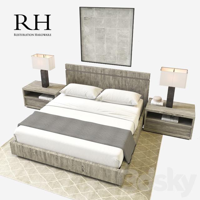 3d models Bed RH MODERN BEZIER BEDROOM SET