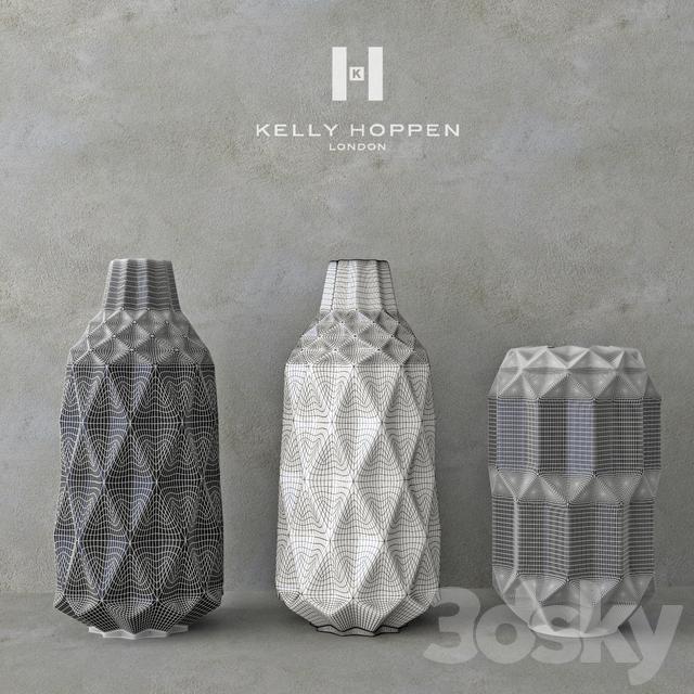 3d Models Vase Decor Set Kelly Hoppen 5 Set Of Vases