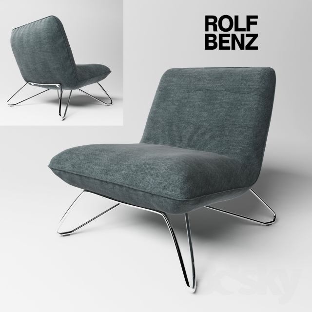 3d models arm chair chair rolf benz 394 for Sessel 394 rolf benz