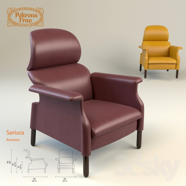 Sanluca Poltrona Frau.3d Models Arm Chair Poltrona Frau Sanluca Armchair