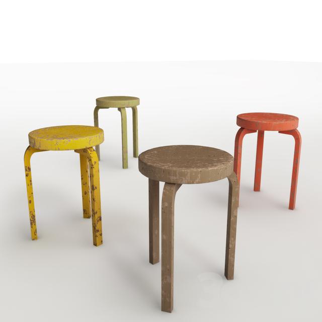 3d Models Chair Aalto Artek