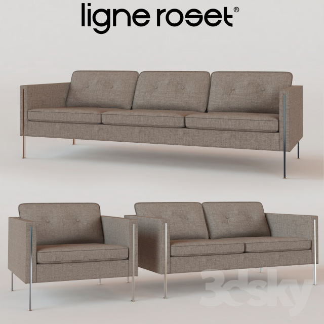 3d models sofa ligne roset andy collection. Black Bedroom Furniture Sets. Home Design Ideas