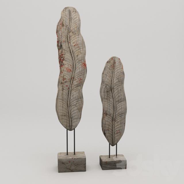 3d models: Sculpture - Banana Leaf Statue