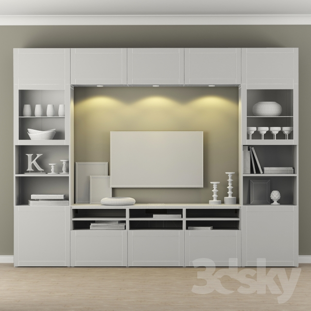 3d models wardrobe display cabinets wardrobe ikea tv. Black Bedroom Furniture Sets. Home Design Ideas