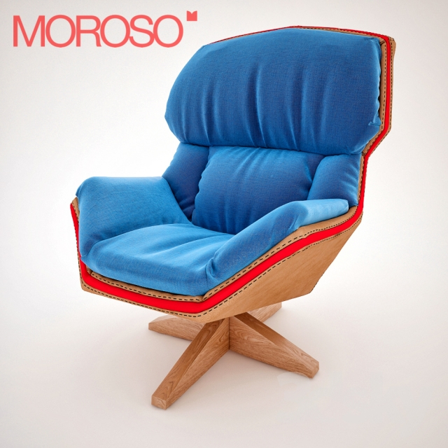 Clarissa Moroso Armchair With Wooden Base