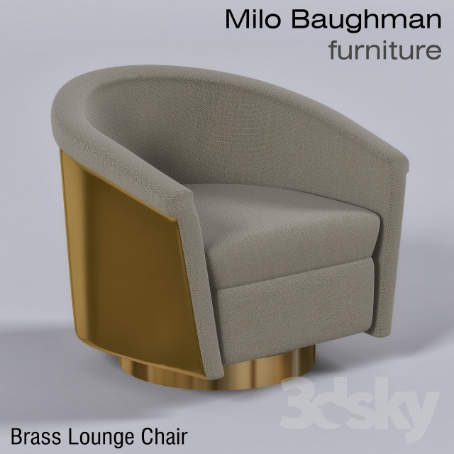Charmant Brass Lounge Chairs   Milo Baughman Furniture