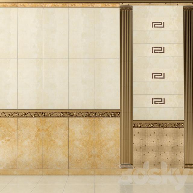 3d models bathroom accessories versace palace living gold for Versace bathroom accessories