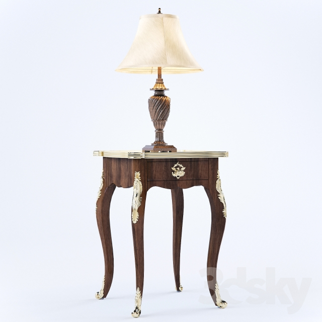 Table Lamp & End Table