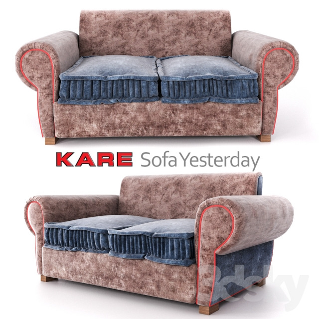 3d models sofa sofa yesterday kare design. Black Bedroom Furniture Sets. Home Design Ideas