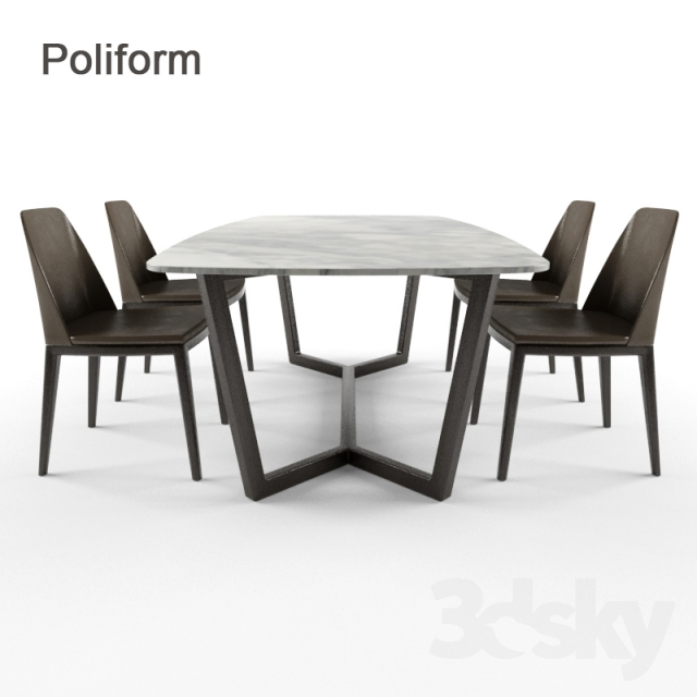 3d models Table Chair Poliform Concorde desk chair  : 540990572a65b736477 from 3dsky.org size 640 x 640 jpeg 132kB
