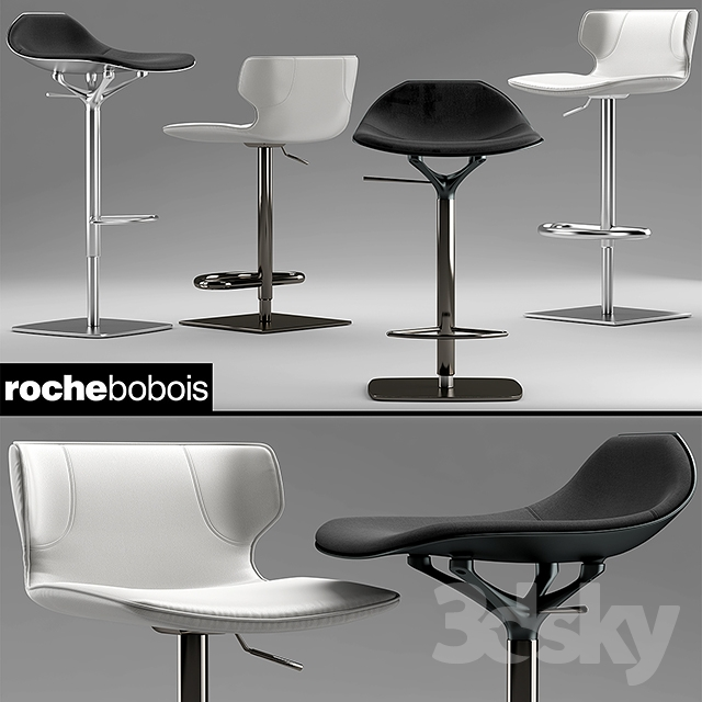 3d models chair chairs roche bobois tabouret kasuka chistera. Black Bedroom Furniture Sets. Home Design Ideas