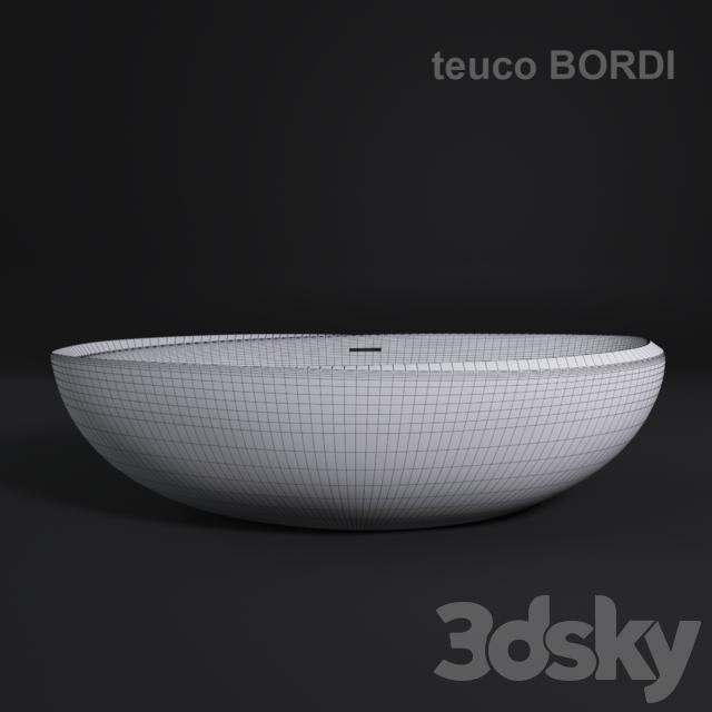 3d models bathtub teuco bordi. Black Bedroom Furniture Sets. Home Design Ideas