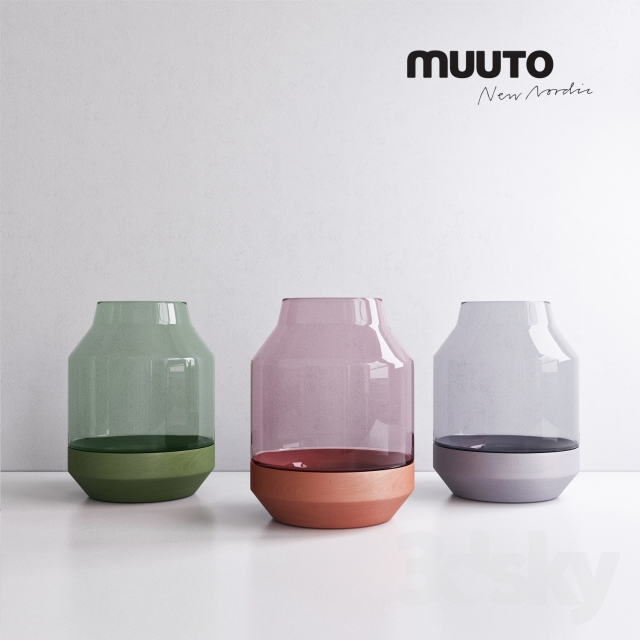 3d Models Bouquet Muuto Elevated Vases