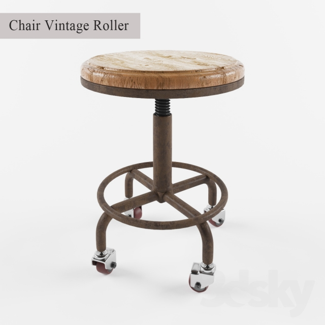 3d Models: Chair   Chair Vintage Roller
