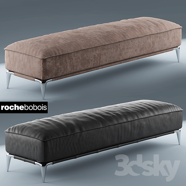 3d models other soft seating poof rochebobois pouf rectangulaire ellica. Black Bedroom Furniture Sets. Home Design Ideas