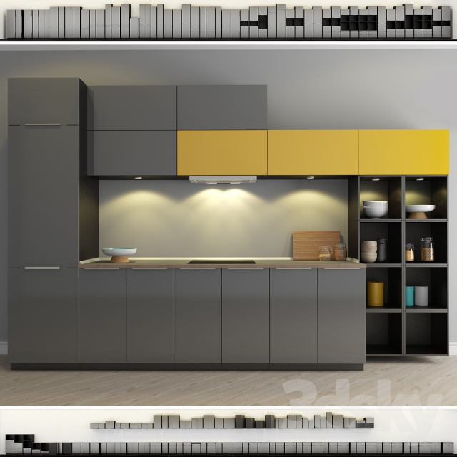 3d models kitchen kitchen ikea method ringult ringhult for Ikea cucina 3d