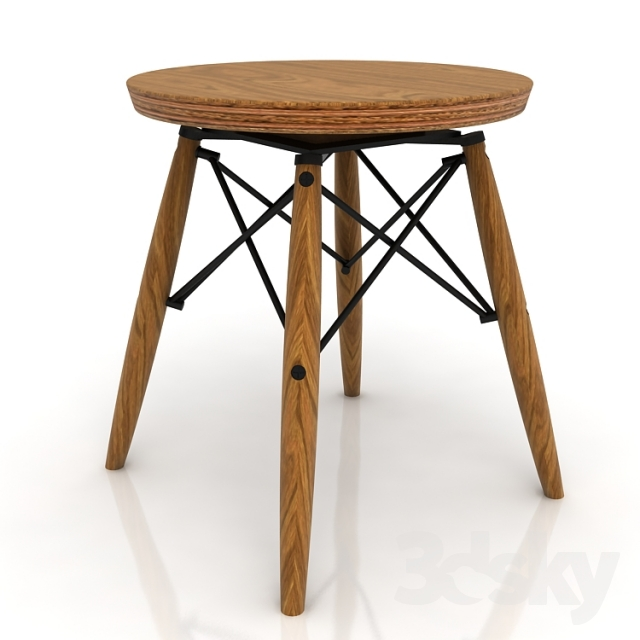 3d models table charles eames table stool for Table charles eames