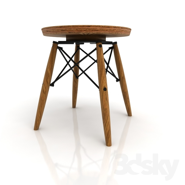 3d models table charles eames table stool for Table ronde charles eames
