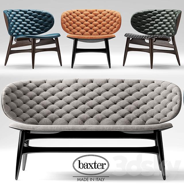 Baxter furniture baxter sofa moran furniture 3d models for Baxter italia divani