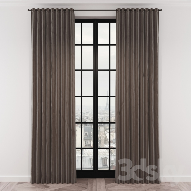 Curtains RH BRUSHED COTTON TWILL DRAPERY
