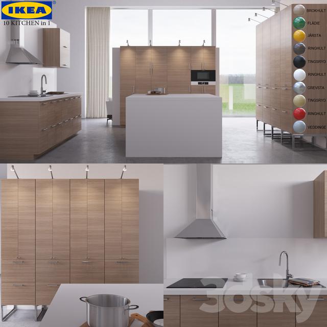 3d models kitchen 10 kitchen ikea. Black Bedroom Furniture Sets. Home Design Ideas