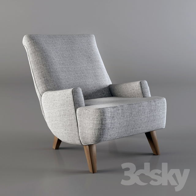 3d Models Arm Chair Borano Sessel By Interio