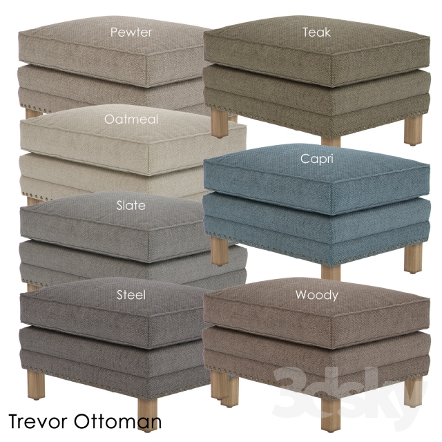 3d models other soft seating crate and barrel trevor for Crate and barrel pouf