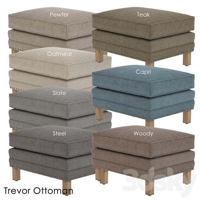 3d models other soft seating crate and barrel trevor ottoman. Black Bedroom Furniture Sets. Home Design Ideas