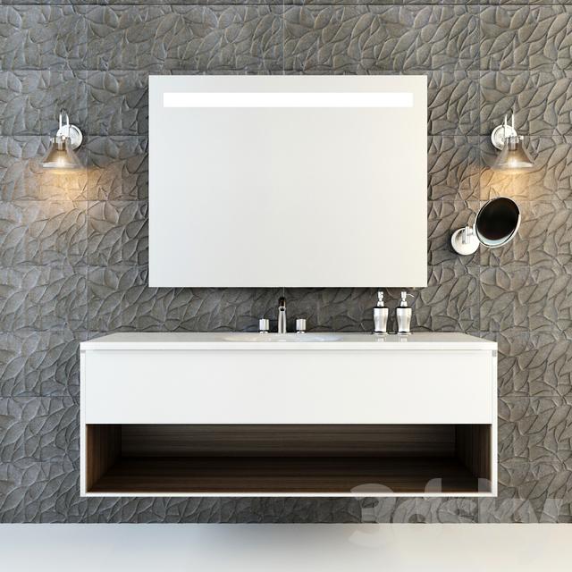 3d models: Bathroom furniture - Berloni bagno manhattan 3