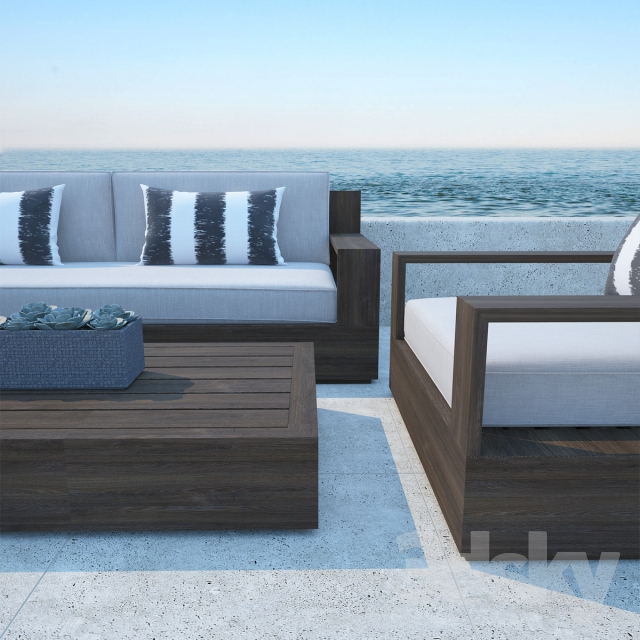 3d models sofa restoration hardware marbella teak sofa for Restoration hardware teak outdoor furniture