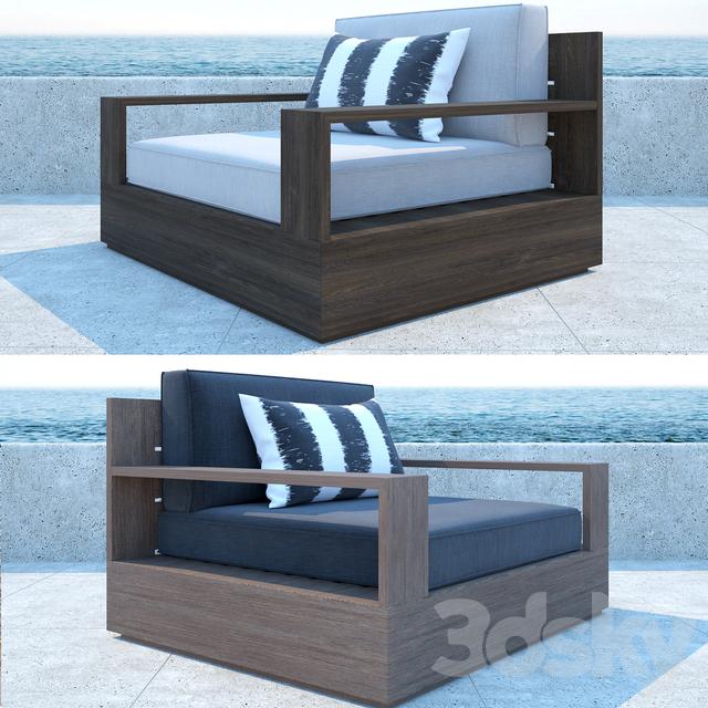 3d models sofa restoration hardware marbella teak sofa for Sofa exterior marbella