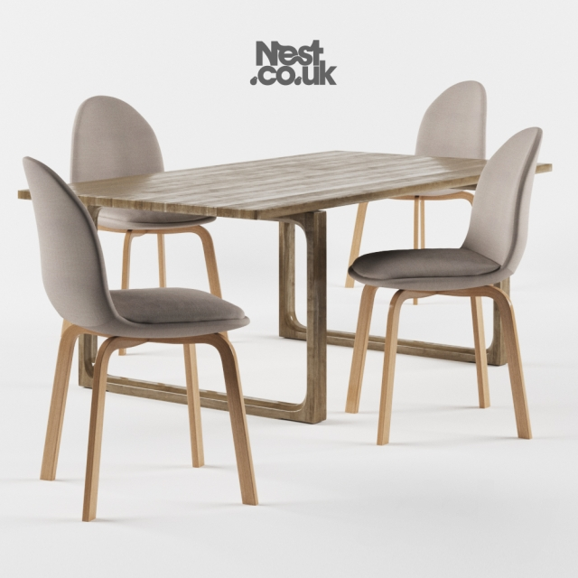 3d Models Table Chair Fritz Hansen Sammen Chair And