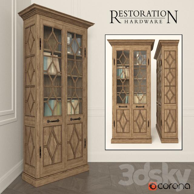 Wardrobe Georgian Fretwork Double Door Cabinet