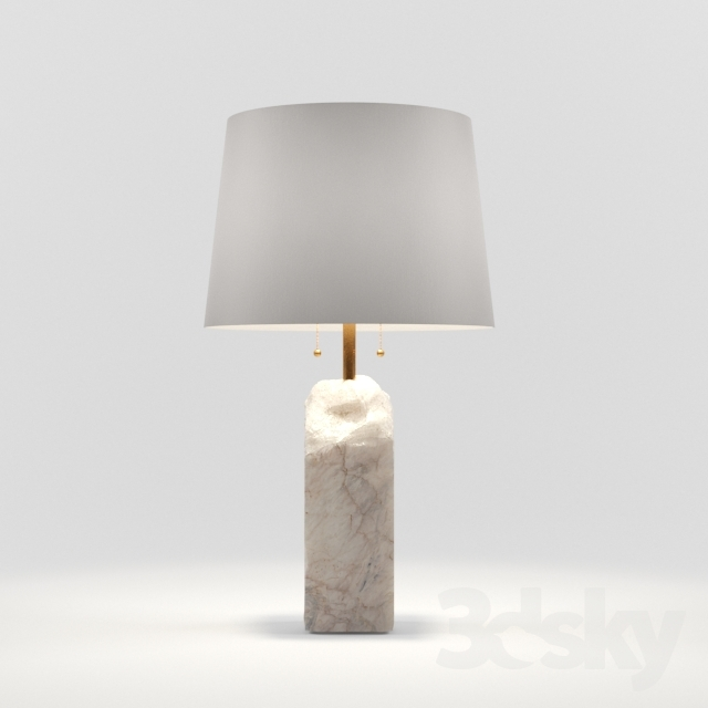 3d models: Table lamp - Raw Alabaster Lamp by Regina-Andrew Design