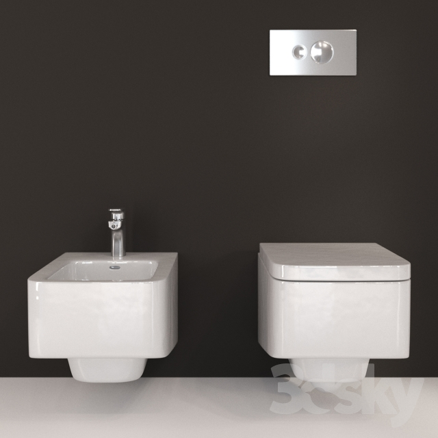 3d models toilet and bidet laufen pro s. Black Bedroom Furniture Sets. Home Design Ideas