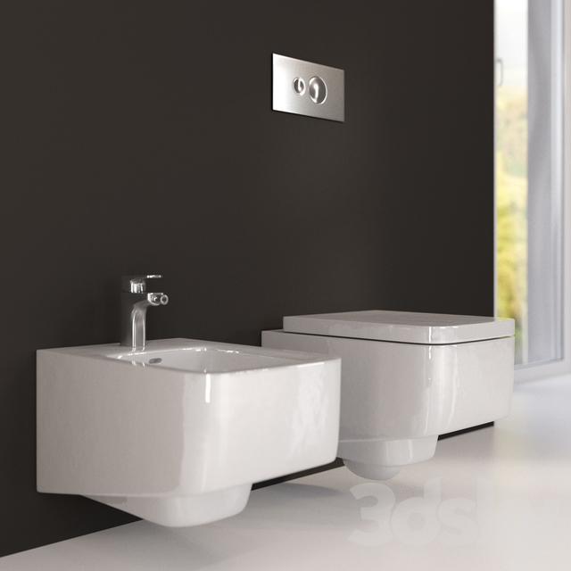 3d Models Toilet And Bidet Laufen Pro S
