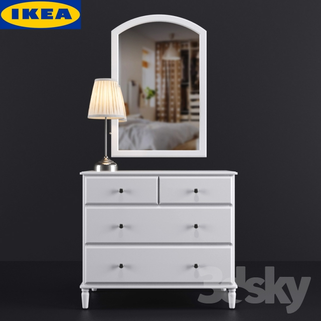 3d Models Sideboard Amp Chest Of Drawer Ikea Tyssedal