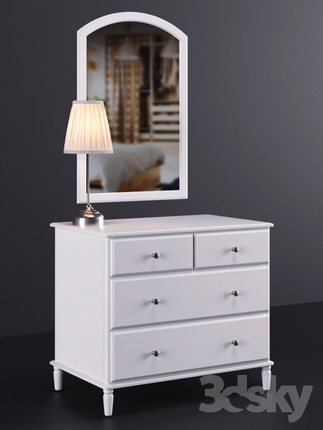 3d models: Sideboard & Chest of drawer - IKEA TYSSEDAL