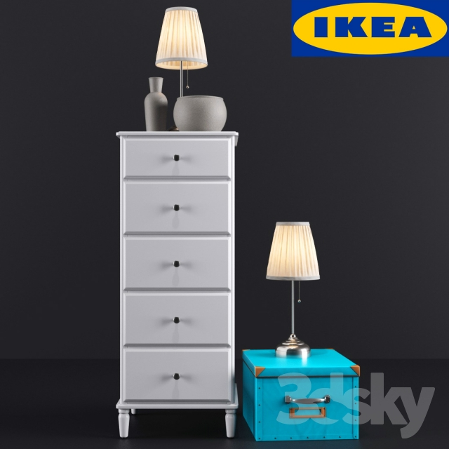 Mammut Kinderzimmer Komplett Ikea ~ 3d models Sideboard & Chest of drawer  IKEA TYSSEDAL Chest 5 drawers